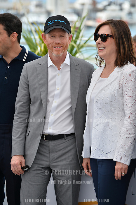 Ron Howard &amp; Kathleen Kennedy at the photocall for &quot;Solo: A Star Wars Story&quot; at the 71st Festival de Cannes, Cannes, France 15 May 2018<br /> Picture: Paul Smith/Featureflash/SilverHub 0208 004 5359 sales@silverhubmedia.com