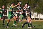 Mark Selwyn gets his pass away to Drury firstfive Kim Halavatau. Counties Manukau Premier Club Rugby game between Drury & Manurewa, played at the Drury Domain on Saturday May 31st 2008. Manurewa led 15 - 7 at halftime and went onto win 25 - 12.