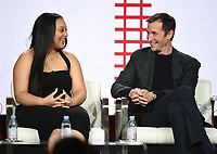 "PASADENA, CA - JANUARY 30: Aliyah Royale, and Noah Wyle of ""The Red Line"" attend the CBS portion of the 2019 Television Critics Association Winter Press Tour at the Langham Huntington on January 30, 2019, in Pasadena, California. (Photo by Frank Micelotta/PictureGroup)"