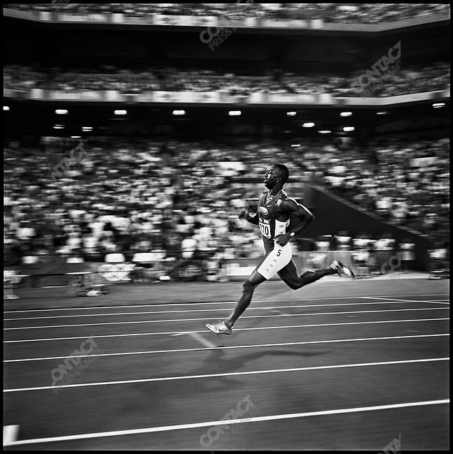 200m men, finals, Michael Johnson (USA) gold, Atlanta, Georgia, USA, July 1996