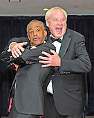 Reverend Al Sharpton and Chris Matthews clown for the photographers as they arrive for the 2013 White House Correspondents Association Annual Dinner at the Washington Hilton Hotel on Saturday, April 27, 2013..Credit: Ron Sachs / CNP.(RESTRICTION: NO New York or New Jersey Newspapers or newspapers within a 75 mile radius of New York City)