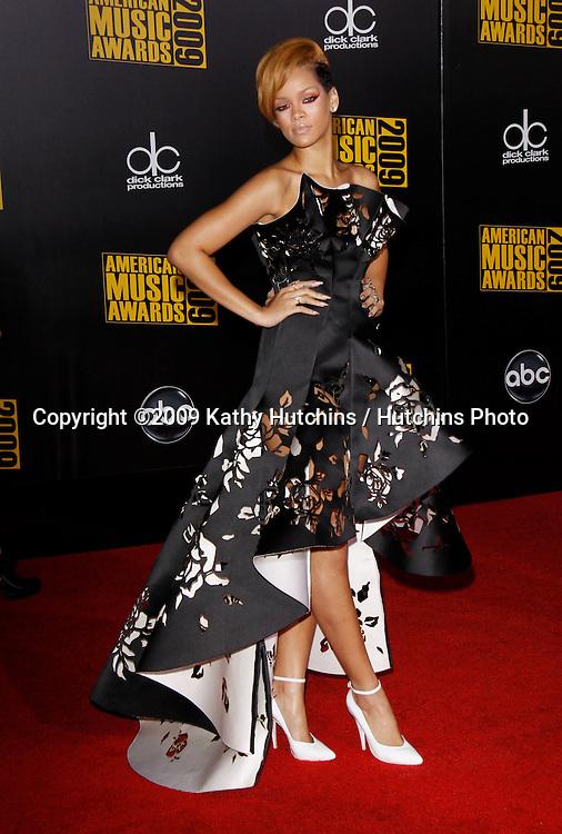 Rihanna.The 2009 American Music Awards - Arrivals.Nokia Theatre L.A. Live.Los Angeles, CA.November 22, 2009.©2009 Hutchins Photo....