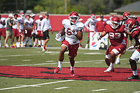 NWA Democrat-Gazette/J.T. WAMPLER Monday August 6, 2018 during practice at the University of Arkansas in Fayetteville.