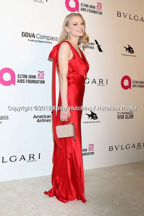 LOS ANGELES - MAR 4:  Danielle Launder at the 2018 Elton John AIDS Foundation Oscar Viewing Party at the West Hollywood Park on March 4, 2018 in West Hollywood, CA