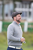 3rd October 2017, The Old Course, St Andrews, Scotland; Alfred Dunhill Links Championship, practice round; Singer Brian McFadden grins as he walks down the first fairway of the Old Course, St Andrews, during a practice round ahead of the Alfred Dunhill Links Championship