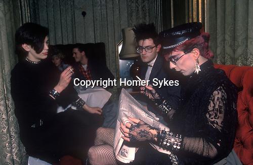Titanic Club London. 1980s 1983.  New Romantics.