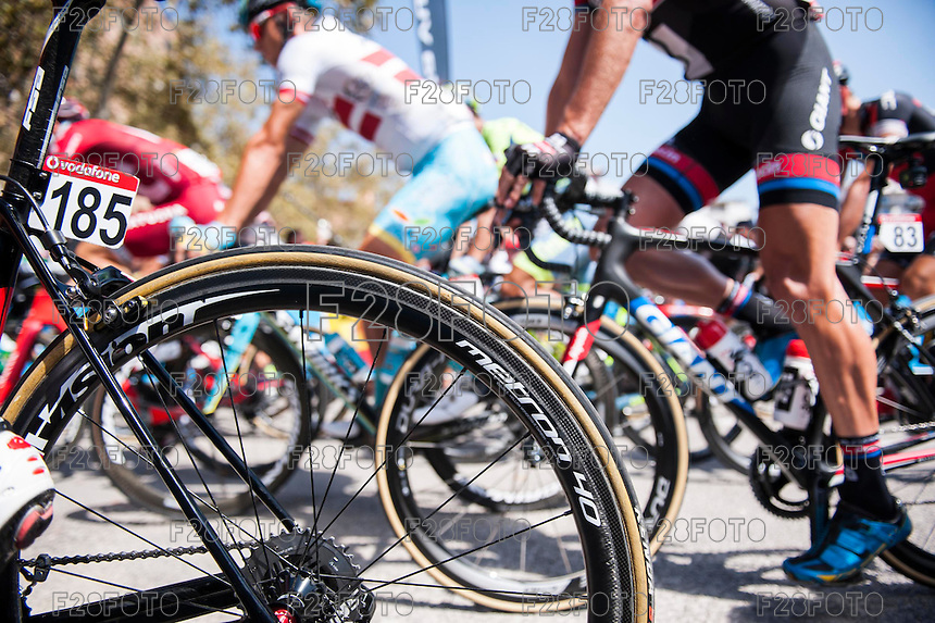Castellon, SPAIN - SEPTEMBER 7: Vision wheel during LA Vuelta 2016 on September 7, 2016 in Castellon, Spain