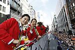 (L-R) Ayaka Takahashi, Misaki Matsutomo (JPN), OCTOBER 7, 2016 : Japanese medalists of Rio 2016 Olympic and Paralympic Games wave to spectators during a parade from Ginza to Nihonbashi, Tokyo, Japan. (Photo by Yosuke Tanaka/AFLO)