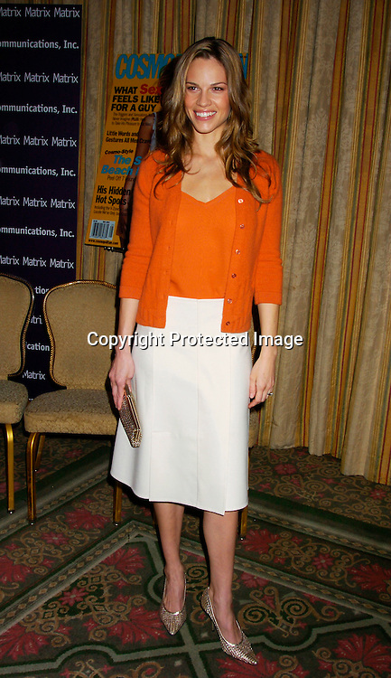 Hilary Swank ..at the New York Women in Communications 2004 Matrix ..Awards Luncheon on April 19, 2004 at the Waldorf Astoria ..Hotel. Photo by Robin Platzer, Twin Images