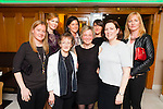 Carola Walsh from OTW, Cahersiveen celebrated her 40th birthday with friends in the Ring of Kerry Hotel, Cahersiveen on Easter Sunday night pictured here l-r; Patricia Clifford, Rachel Marriott, Mary Golden, Joanne O'Sullivan, Carola Walsh, Mary Coffey, Rosemarie O'Connell & Mary B.O'Shea.