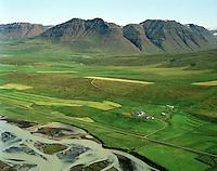 Þorleifsstaðir séð til austurs, Akrahreppur / Thorleifsstadir viewing east, Akrahreppur.