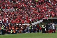 BOGOTA - COLOMBIA, 28-01-2018:Independiente Santa Fe y América de Cali por la final de la Copa Fox Sports 2018 jugada en el estadio Nemesio Camacho El Campin de la ciudad de Bogotá. / :Independiente Santa Fe and América de Cali for the final of the Fox Sports Cup 2018 played at the Nemesio Camacho Stadium The Campin of the city of Bogotá played at the Nemesio Camacho stadium El Campin in the city of Bogotá. Photo: VizzorImage / Felipe Caicedo / Staff.
