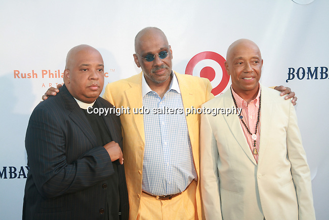 Joseph Simmons, Danny Simmons and Russell Simmons Attend Russell Simmons' 12th Annual Art for Life East Hampton Benefit, NY 7/30/11