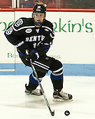 Billy Eiserman (Bentley - 19) - The visiting Bentley University Falcons defeated the Northeastern University Huskies 3-2 on Friday, October 16, 2015, at Matthews Arena in Boston, Massachusetts.
