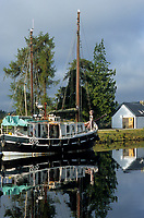 Europe/Grande-Bretagne/Ecosse/Highland/Fort Augustus : Le port sur les bords du canal Calédonien qui traverse le village