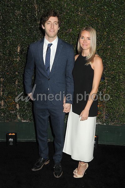 "9 December 2015 - Los Angeles, California - Thomas Middleditch, Mollie Gates. Opening Night of ""Kurios"" from Cirque du Soleil held at Dodgers Stadium. Photo Credit: Byron Purvis/AdMedia"