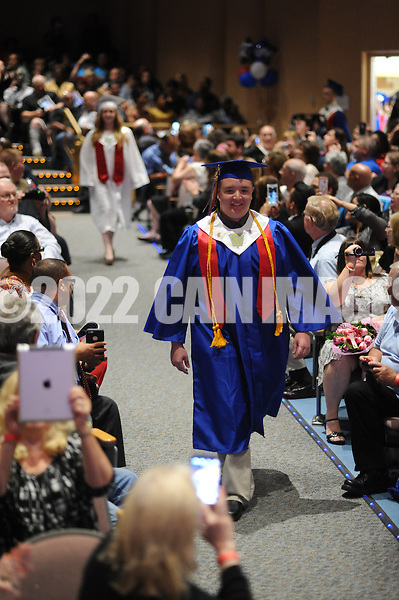 Brian R. Jonas marches into Burlington County Institute of Technology's commencement ceremony Thursday June 18, 2015 in Medford, New Jersey.  (Photo by William Thomas Cain)