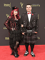 LOS ANGELES - SEPTEMBER 15: Lorelei Burk and Brandon Fayette attend the 2019 Creative Arts Emmy Awards at the Microsoft Theatre LA Live on September 15, 2019 in Los Angeles, California. (Photo by Scott Kirkland/PictureGroup)