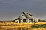 Lonely homestead in Robsart Saskatchewan