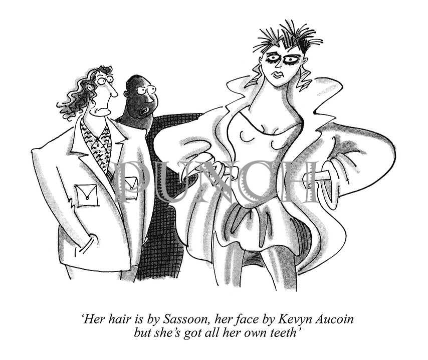 'Her hair is by Sassoon, her face by Kevyn Aucoin but she's got all her own teeth'