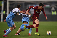 Nicolo Zaniolo of AS Roma , Senad Lulic and Luis Alberto of Lazio <br /> Roma 2-3-2019 Stadio Olimpico Football Serie A 2018/2019 SS Lazio - AS Roma <br /> Foto Andrea Staccioli / Insidefoto