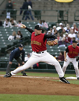August 13, 2004:  Pitcher J.D. Durbin of the Rochester Red Wings, Triple-A International League affiliate of the Minnesota Twins, during a game at Frontier Field in Rochester, NY.  Photo by:  Mike Janes/Four Seam Images