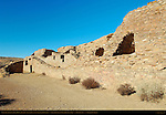 Colonnade Wall, Chetro Ketl Chacoan Great House, Anasazi Hisatsinom Ancestral Pueblo Site, Chaco Culture National Historical Park, Chaco Canyon, Nageezi, New Mexico