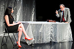 "Marta Flich and Philip Rogers during the theater play of ""Debate"", the comeback to the teather of Toni Canto at Teatros del Canal in Madrid. May 03, 2016. (ALTERPHOTOS/Borja B.Hojas)"