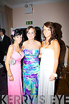 Having a ball at their Debs Ball at The Waterville Lake Hotel on Thursday were l-r; Gemma O'Shea, Hazel Dineen & Leanne Curran.