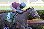 Spot (KY) with jockey Jose A Lezcano on board passes favorite No Nay Never (KY) to win the Swale Stakes G2 at Gulfstream Park,  Hallandale Beach, Florida 03-01-2014