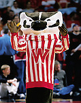 University of Wisconsin mascot Bucky Badger during the Northern Illinois game at the Kohl Center in Madison, WI, on 11/25/00. Wisconsin beat Northern Illinois 68-64.