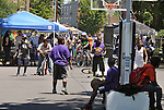 Overview of the activities at the 11th Annual Mid-town Make a Difference Day Celebration on Franklin Street, in Kingston, NY on Saturday, June  18, 2016. Photo by Jim Peppler. Copyright Jim Peppler 2016.