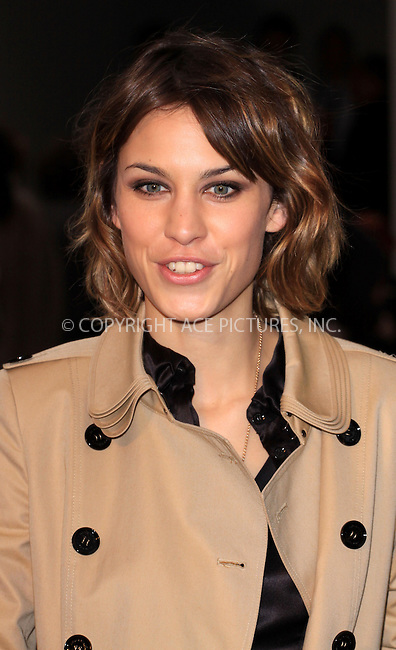 WWW.ACEPIXS.COM . . . . .  ..... . . . . US SALES ONLY . . . . .....September 22 2009, London....Alexa Chung at the Burberry Spring/Summer 2010 show at London Fashion Week on September 22, 2009 in London....Please byline: FAMOUS-ACE PICTURES... . . . .  ....Ace Pictures, Inc:  ..tel: (212) 243 8787 or (646) 769 0430..e-mail: info@acepixs.com..web: http://www.acepixs.com