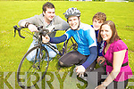 ON YER BIKE: ITT student Ger Lovett will cycle 300km this weekend  to raise funds for the 7th Annual Chernobyl Children's Project International Charity Cycle. From l-r were: Jono Clifford (President SU), Ger Lovett, Jerry Fitzgerald (Vice President SU) and Katie Sheehy (Vice President SU).