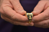 MIAMI GARDENS, FL - DECEMBER 02: Jason Taylor Pro Football Hall of Fame ring during The Miami Dolphins 'Hall of Fame Celebration' hosting Jason Taylor at Hard Rock Stadium on December 02, 2017 in Miami Gardens, Florida. Credit: MPI10 / MediaPunch