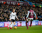 Mark Duffy of Sheffield Utd faces up to Albert Adomah of Aston Villa during the Championship match at Villa Park Stadium, Birmingham. Picture date 23rd December 2017. Picture credit should read: Simon Bellis/Sportimage