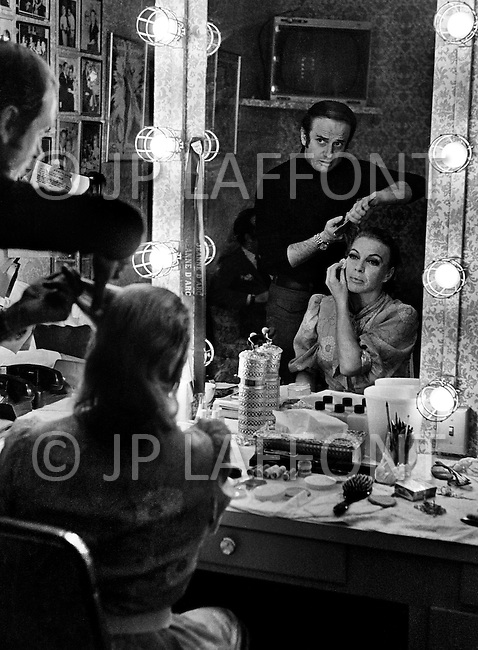 March 1969. Las Vegas, Nevada, USA. French singer and actress Line Renaud getting ready for her concert in Las Vegas in 1969. Renaud was one of France most-loved, respected, and successful entertainers.