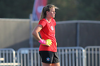 Piscataway, NJ - Saturday Aug. 27, 2016: Alyssa Naeher prior to a regular season National Women's Soccer League (NWSL) match between Sky Blue FC and the Chicago Red Stars at Yurcak Field.