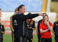20180305 - LARNACA , CYPRUS :  Belgian assistant coach Kris Van Der Haegen pictured during a women's soccer game between  the Belgian Red Flames  and Austria , on Monday 5 March 2018 at the GSZ Stadium in Larnaca , Cyprus . This is the third game in group B for Belgium during the Cyprus Womens Cup , a prestigious women soccer tournament as a preparation on the World Cup 2019 qualification duels. PHOTO SPORTPIX.BE | DAVID CATRY