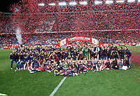 FC Barcelona players celebrating afer winning the final of Copa del Rey