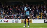 Aaron Pierre of Wycombe Wanderers during the Sky Bet League 2 match between Wycombe Wanderers and Barnet at Adams Park, High Wycombe, England on 16 April 2016. Photo by Andy Rowland.