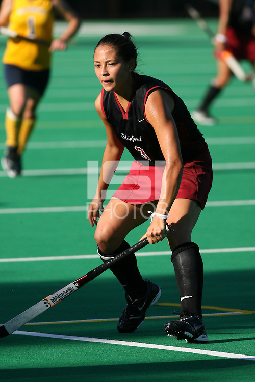 3 November 2007: Midori Uehara during Stanford's 3-1 win over California in the finals of the NorPac Championship at the Varsity Field Hockey Turf in Stanford, CA.