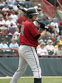 June 6, 2004:  Larry Broadway of the Harrisburg Senators, Eastern League (Doube-A) affiliate of the Montreal Expos (Washington Nationals) during a game at Jerry Uht Park in Erie, PA.  Photo by:  Mike Janes/Four Seam Images