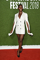 "Michaela Coel<br /> arriving for the London Film Festival screening of ""Been so Long"" at the Cineworld Leicester Square, London<br /> <br /> ©Ash Knotek  D3439  12/10/2018"