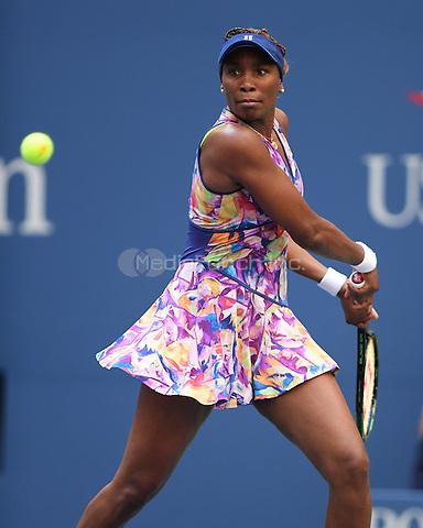 FLUSHING NY- AUGUST 30: Venus Williams Vs Kateryna Kozlova on Arthur Ashe Stadium at the USTA Billie Jean King National Tennis Center on August 30, 2016 in Flushing, Queens. Credit: mpi04/MediaPunch
