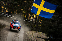 13th February 2020, Torsby base and Karlstad, Värmland County, Sweden; WRC Rally of Sweden, Shakedown event;  Thierry Neuville (BEL) – Nicolas Gilsoul (BEL) - Hyundai i20 Coupe WRC