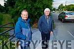 Denis Carroll and Jim Beasley of Listowel who have safety concerns about the access road they are getting at the new by pass route on the Ballybunion to Listowel road.