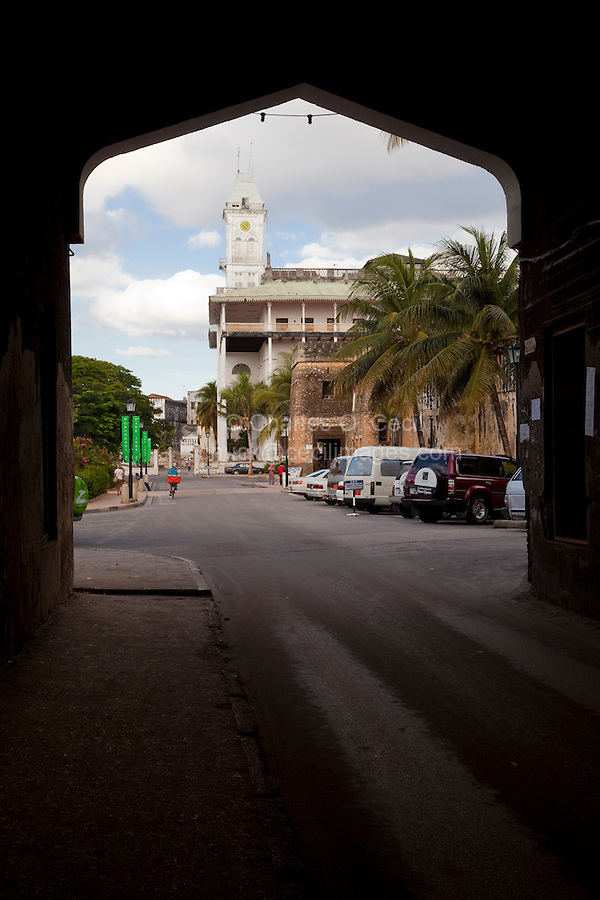 Zanzibar, Tanzania.  Beit al-Ajaib and Omani Fort, Stone Town.