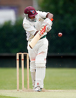 N Naguleswaran bats for Shepherds Bush during the Middlesex County League Division two game between Shepherds Bush and Hornsey at Bromyard Avenue, East Acton on Sat July 23, 2011