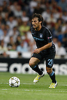 17.09.2012 SPAIN -  Champions League 12/13 Matchday 1th  match played between Real Madrid CF vs  Manchester City at Santiago Bernabeu stadium. The picture show David Silva (Midfielders of Manchester City)